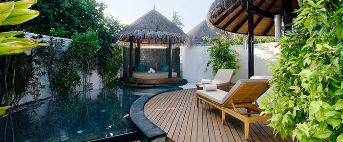 HHWT Maldive's Resorts The Sun Siyam Iru Fushi Private Pool Villa