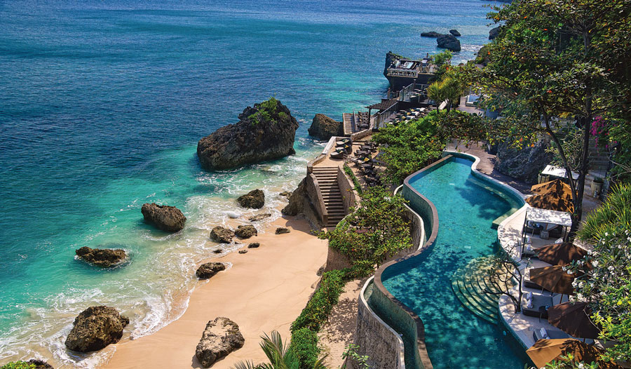 The view from Ayana Resort and Spa