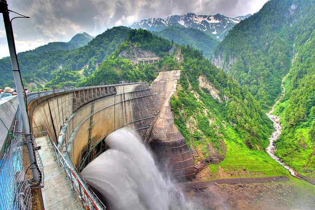 Kurobe Dam: Japan's tallest dam, it discharges water from late June to mid October. Numerous challenges were faced in its making including 170 lives lost!