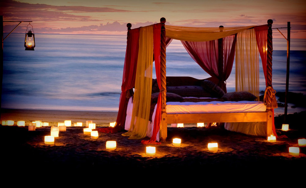 Hotel Tugu is right on Canggu Beach with a gorgeous sunset view