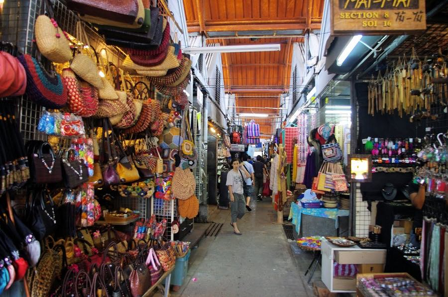The maze arrangement of Chatuchak Weekend Market.