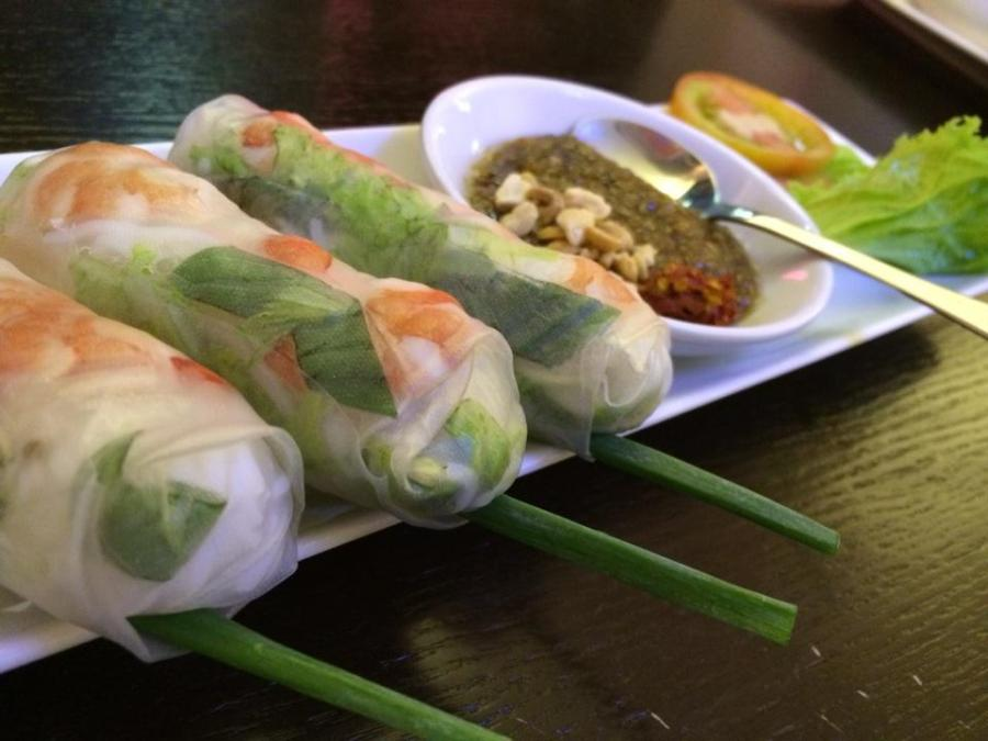 Go for fresh spring rolls instead of fried ones