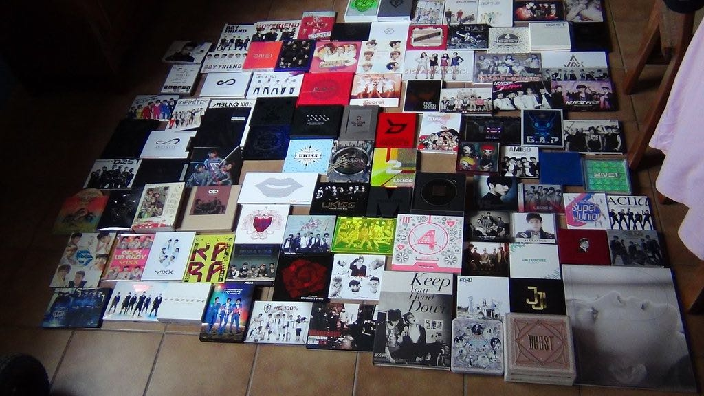 13- kpop cd collection