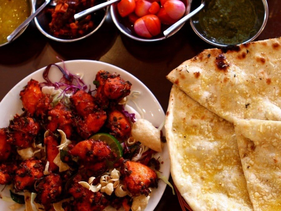 9 - Crispy naan with a side of tandoori chicken Babas Kitchen
