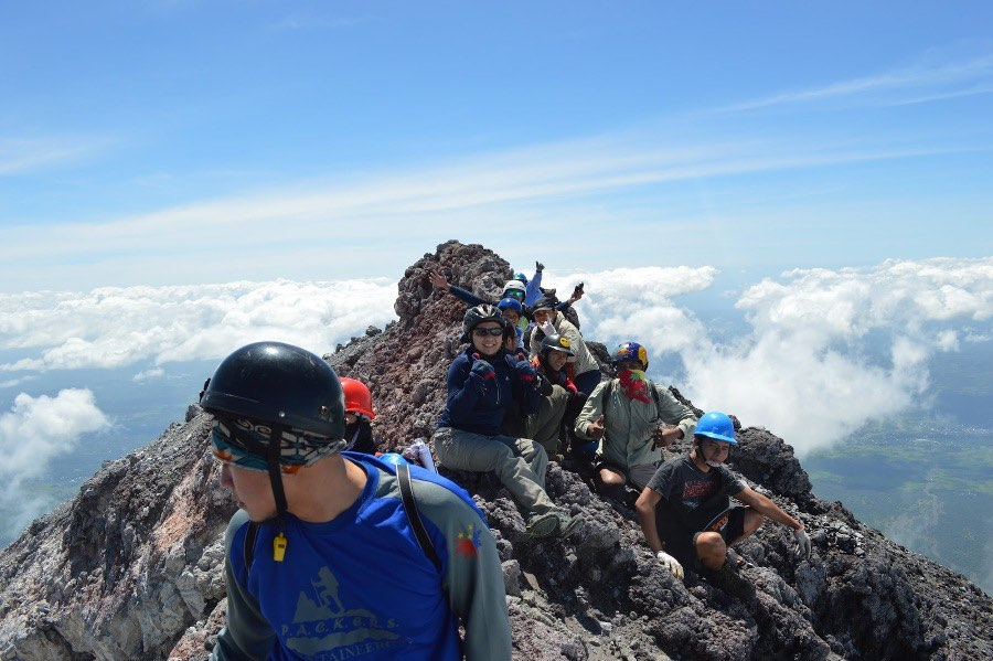 2 - Aint no mountain high for these thrill seekers at Mayon Volcano Volcano Mountaineering
