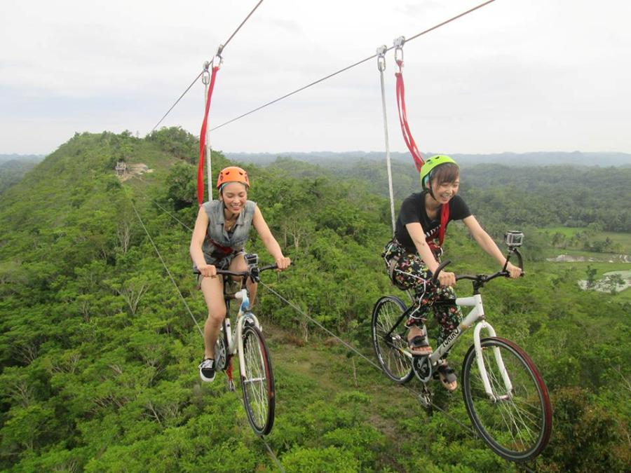 Yes, bike zipline is a legit activity in Bohol