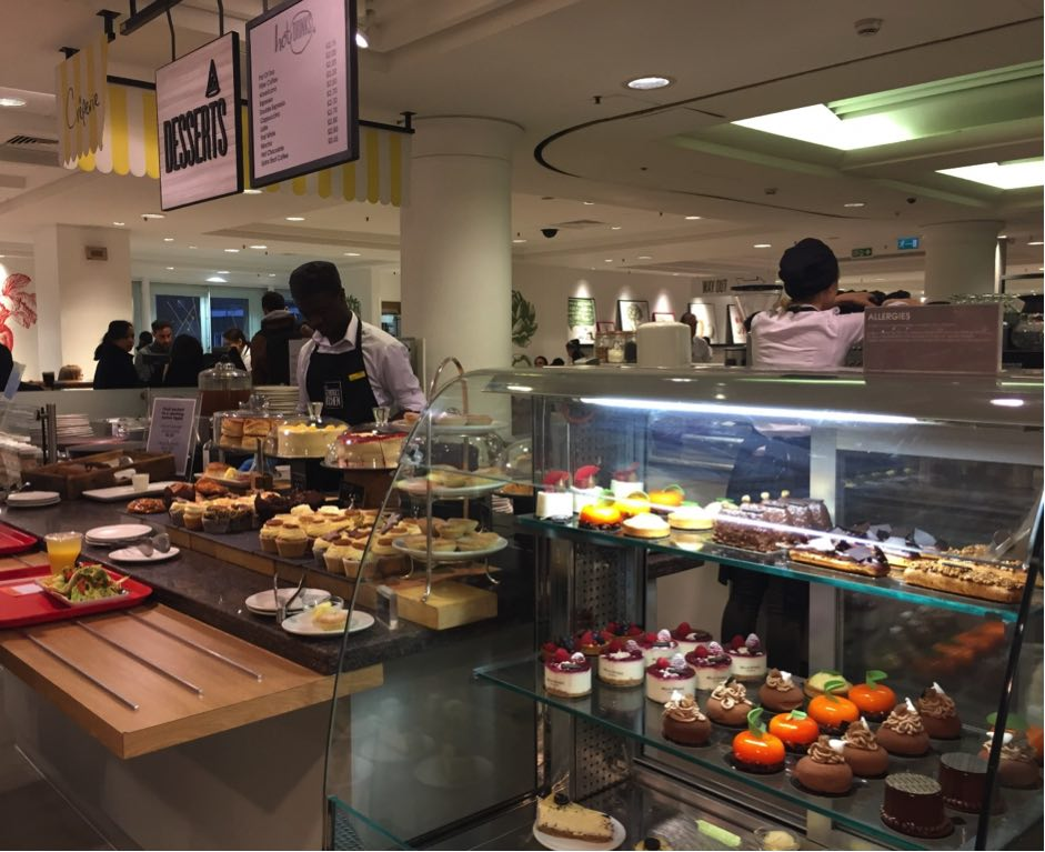 Dessert counter selfridges food hall london halal food muslim friendly desserts