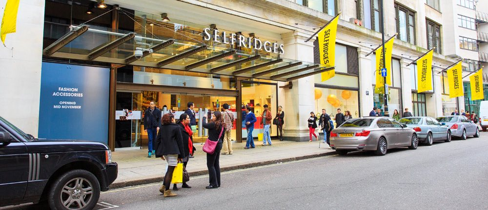 selfridges storefront london shopping