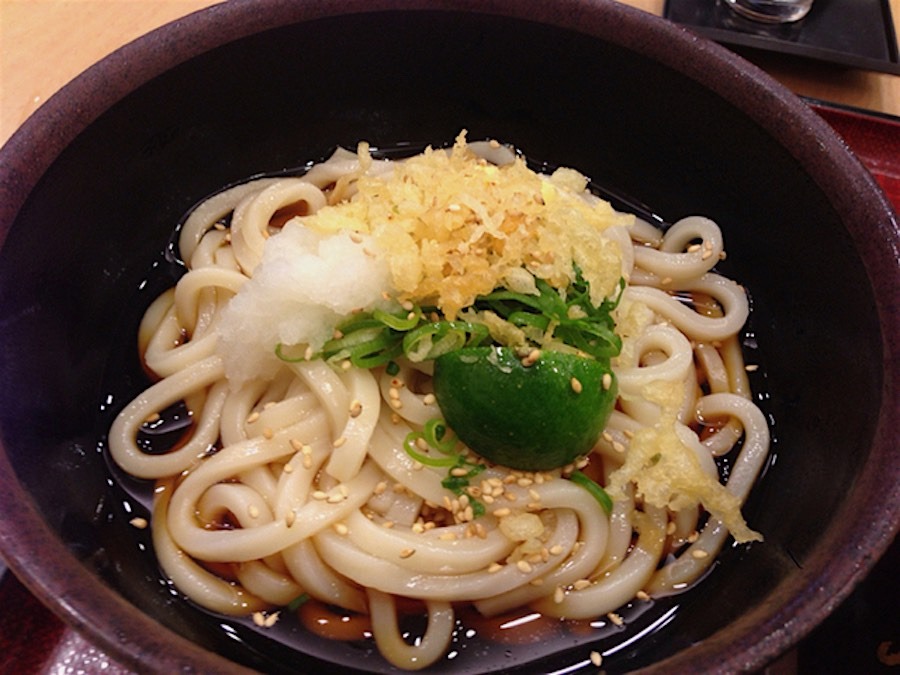 Udon in hot soup