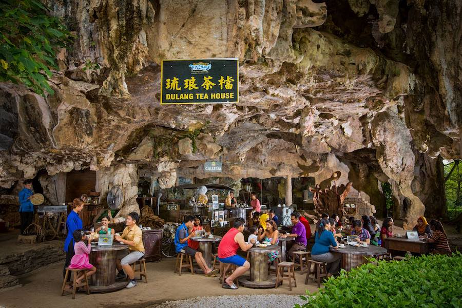 How cool is it that you can have tea in an actual cave?