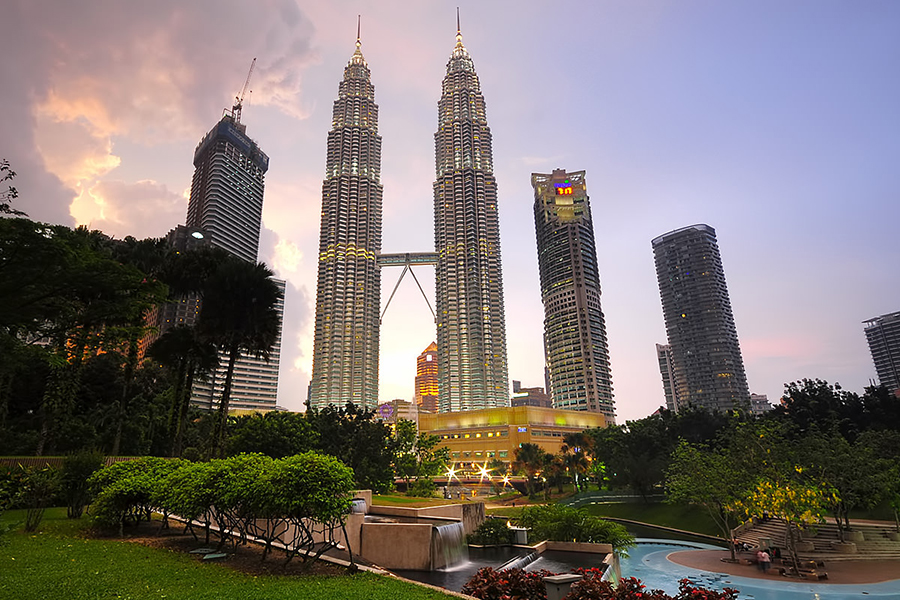 1 - A majestic view of Petronas Twin Towers and KLCC Park