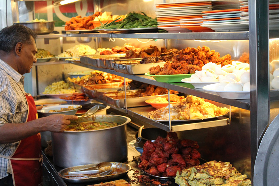 2 - Endless choices of side dishes at Nasi Kandar Line Clear
