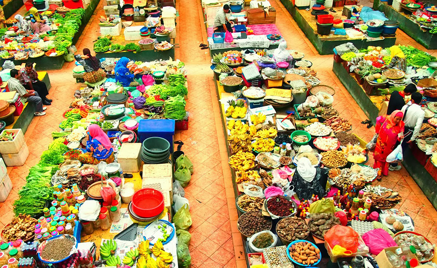 5 - Fall in love with the vivid hues at Pasar Besar Siti Khadijah in Kelantan