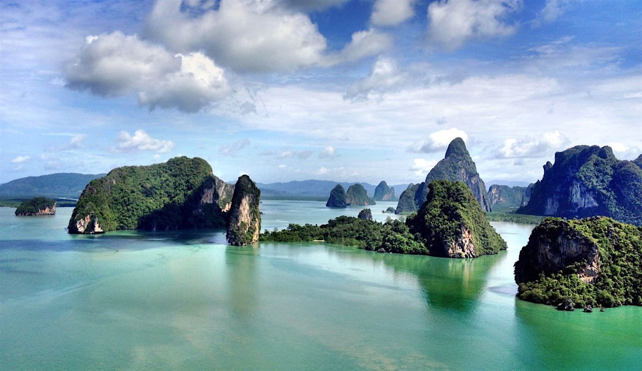 Yup, this is a real picture of Phang Nga.