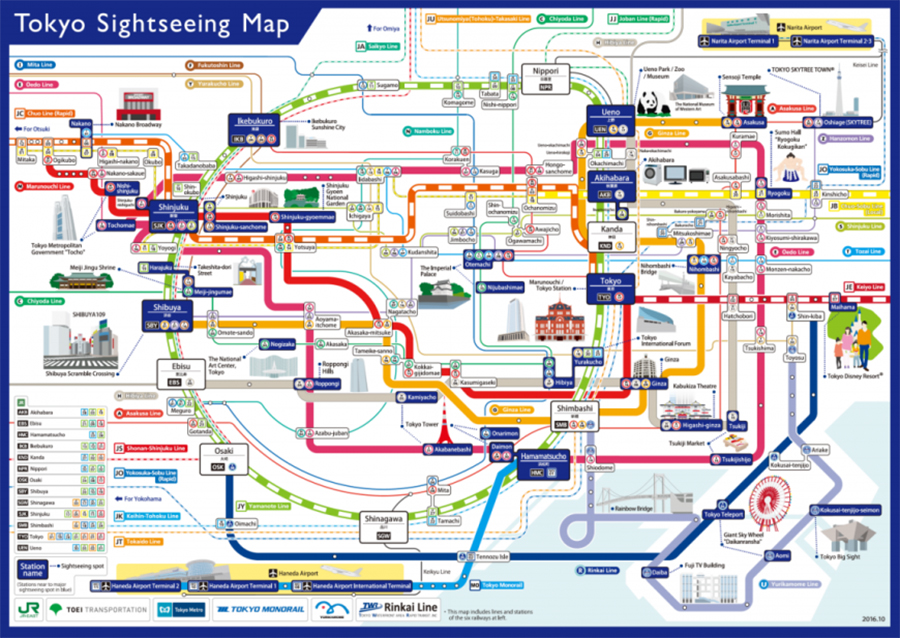Never Get Lost In Tokyo Again With This New English Railway Map