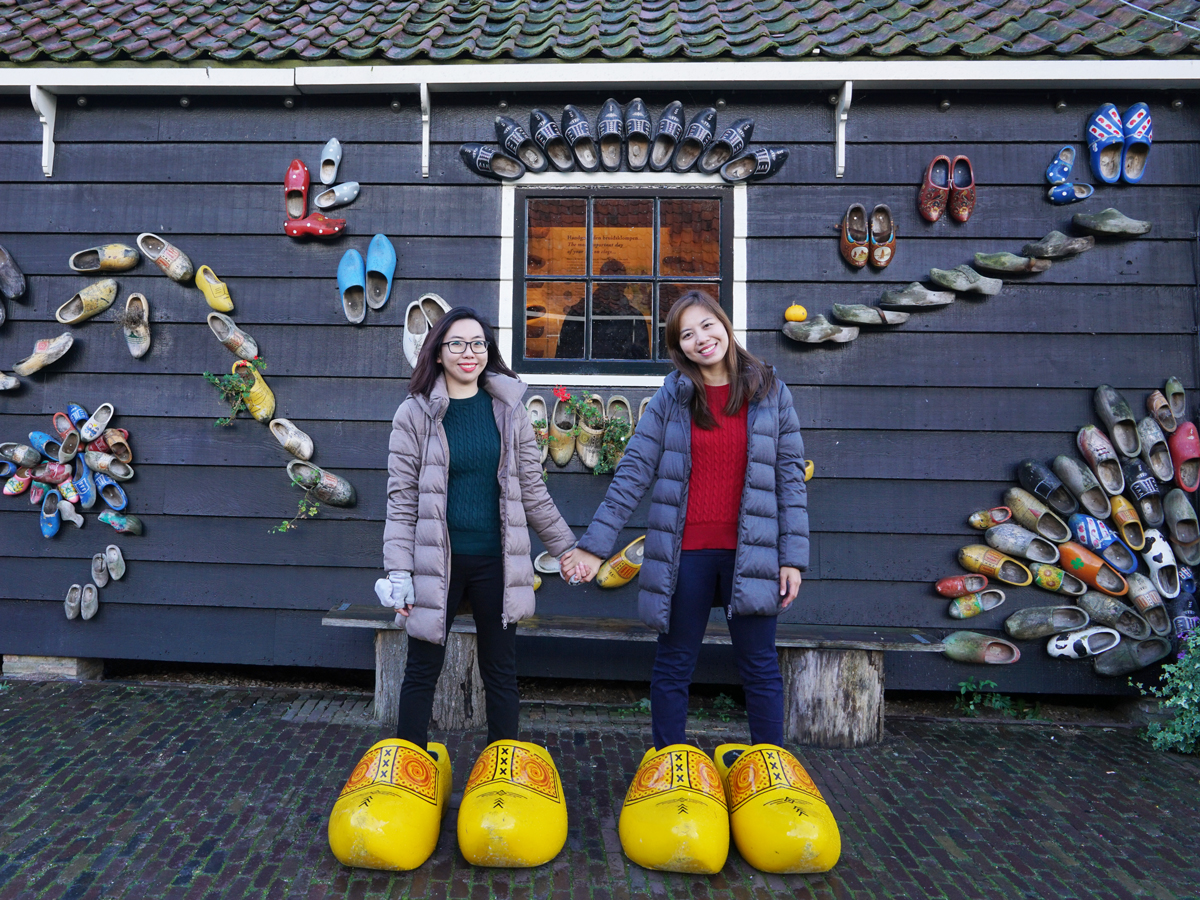 Snap a cute photo with the many giant clogs outside the museum!