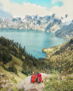 Hiking to the top of Mount Rinjani and taking inhellip