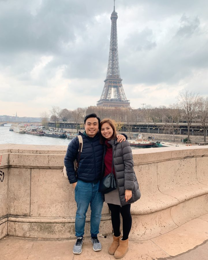 Picture in front of Eiffel Tower